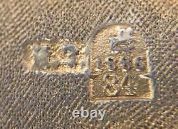 Rare Antique Imperial Russian 84 Enameled Silver Cigarette Case (Ivan Zakharov)