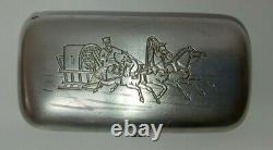 Rare Antique Imperial Russian Sterling Silver 84 Cigarette Case 80 gr