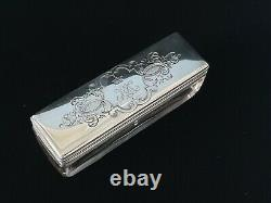 Rare Antique Royalty Imperial Russian Silver Crystal Romanov Crown Gold Gilt Box