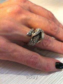 Rare Faberge design Antique Russian IMPERIAL 84 Silver Ring