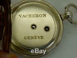 Rare antique silver Vacheron, Geneve pocket watch for Imperial Russian Army c1870