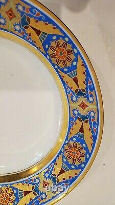 Russia Russian Imperial Porcelain Soup Plate Gothic Service Alexander III 1892