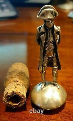 Russian Antique Imperial Figurine for bottle Sterling Silver Napoleon (5000)