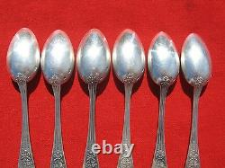 Russian Imperial 84 Silver Tee Spoons Set (6 items) 200 gr