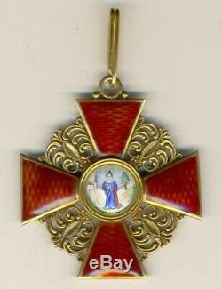 Russian Imperial Antique badge medal Order St. Anna 2nd degree (1141)