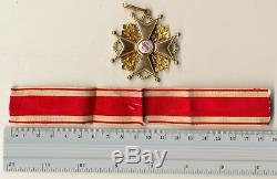 Russian Imperial Antique badge medal Order St. Stanislav Gold 2nd (1493b)