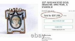 Russian Imperial Gold Picture Frame, Tsariza Alexandra Feodorovna