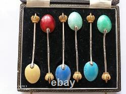 Russian Imperial Spoons Silver Gilded Faberge