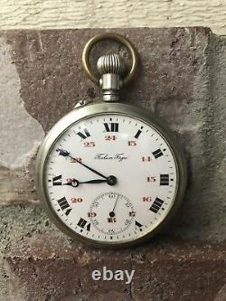 Stunning RUSSIAN Imperial PAVEL BURE ANTIQUE POCKET WATCH Size 16S Silver Color
