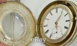 Unique 19th C. Imperial Russian 84 Silver, Enamel&Pearls Mandolin shape watch