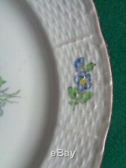 18 Antique Siècle Impériale Russe Porcelaine Plaque Usine Tsarine Catherine