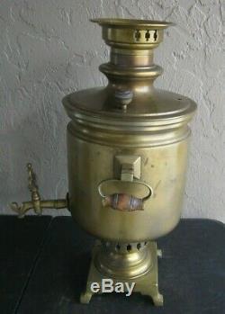 1865 Antique Russian Imperial Samovar Lourd Laiton Difficile À Trouver
