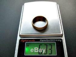 1880 Antique Impériale Russe En Or Rose 56 14k Bijoux 6.33gr Mariage Ring 7