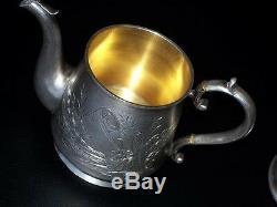 1891 Imperial Originale Rare Teapot Russe Argent 84 Antique Carl Fabergé Russie