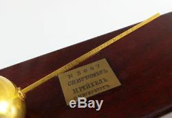 1900 Plaqué Or Impérial Russe Alcool Compteur Hydromètre Pour Les Spiritueux Dans L'encadré