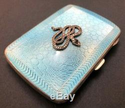19c Antique Impériale Russe Fabergé Guilloché Émail Étui À Cigarettes