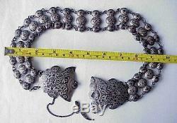 19c. Imperial De Russie 84 Argent Emaille Royal Ceinture Art Antique Kubachi Sterling