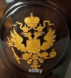 Ancien Impérial Russe Palais D'hiver Verres À Vin Tsar Nicholas Romanov Eagle