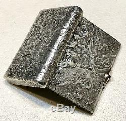 Anciennes 1908 Argent Russe Imperial 84 Or Samorodok Case Cigarette