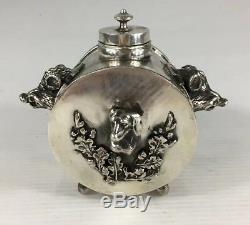 Antique 1878 Russe Argent Massif Imperial Cyprian Labecki Encrier 192g