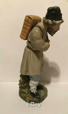 Antique 18ème Siècle Russe Figurine En Porcelaine Par Factory Imperial À Saint-pierre
