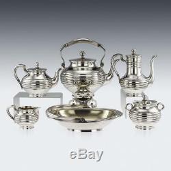 Antique 19thc Service De Russie Imperial Tea Argent Massif, Sazikov C. 1866