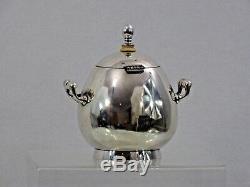 Antique 84 Argent De Russie Imperial Sucrier Fabergé Workmaster Erik Kollin Egg