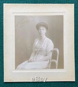 Antique Imperial Grande-duchesse Russe Olga Romanov Photo Dédicacée 1912