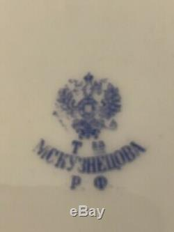 Antique Imperial Kuznetsov Mur Porcelaine Russe Plaque Plaque 10 Tsar Paul I