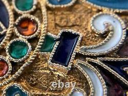 Antique Impérial Russe 84 Énommé Silver Coin Purse (g. Klingert)