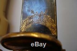 Antique Imperial Russe Allemand Début 19 Siècle Chasse Dague Épée