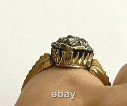 Antique Impérial Russe Faberge 14k 56 Solid Gold Diamond Ring Auteur