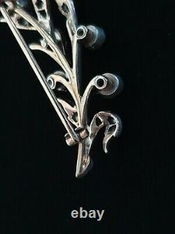 Antique Imperial Russe Or Rubis Diamant Victorienne Broche Bijoux Edwardian