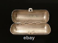 Antique Imperial Russian 84 Silver Cylindrical Cigarette Case Vesta Snuff Box Ru