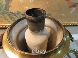 Antique Imperial Russian Brass Samovar Avecteapot, 23 Tall