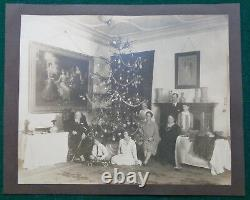 Antique Imperial Russian Christmas Photo Grand Duke Kirill Romanov King Bulgarie