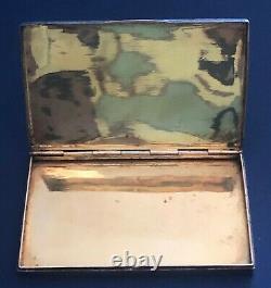 Antique Imperial Russian Enamel 84 Silver Cigarette Case