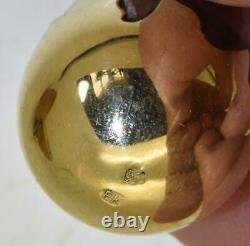Antique Imperial Russian Faberge Or & Argent Easter Egg Pendentif C1880s. E. Kollin