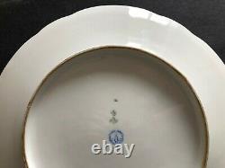Antique Imperial Russian Grand Duke Alexander Porcelain Plate (alexander Ll)
