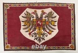 Antique Imperial Russian Romanov Double Headed Eagle Flag Tsar Alexandre III