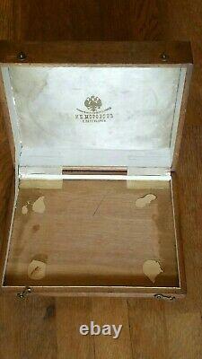Antique Imperial Russian Wooden Jewelry Presentation Box Par Morozov