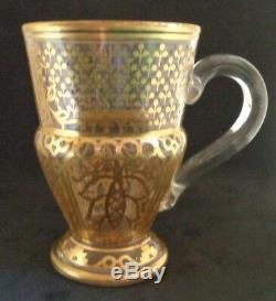 Antique Imperial Verre Russe Usine De Thé Coupe Du Grand-duc Vladimir Romanov