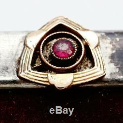 Antique Impériale Russe Argent 84 Fabergé 14k Or 56 Birmanie Ruby Picture Frame