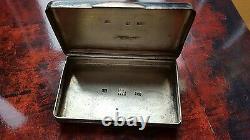Antique Impériale Russe Argent Niello Émail 84 Snuff Box 1851 Moscou