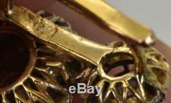 Antique Impériale Russe D'or Et Vieux Diamants Taillés Mine De Boucles D'oreilles En Boîte