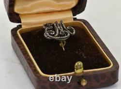 Antique Impériale Russe De L'or Et Des Diamants De Maid Of Honor Cypher Em C1820