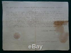 Antique Impériale Russe Document Signé Tsar Alexandre Ier Romanov 1825 Allemagne