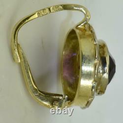 Antique Impériale Russe Faberge 14k Or & Boucles D'oreilles Amethyst Ensemble C1890. Boîte