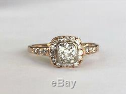 Antique Impériale Russe Fabergé 18k 72 Diamants Bague En Or Le Travail De L'auteur