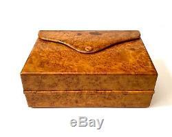 Antique Impériale Russe Fabergé Burl Bois Case Cigarette